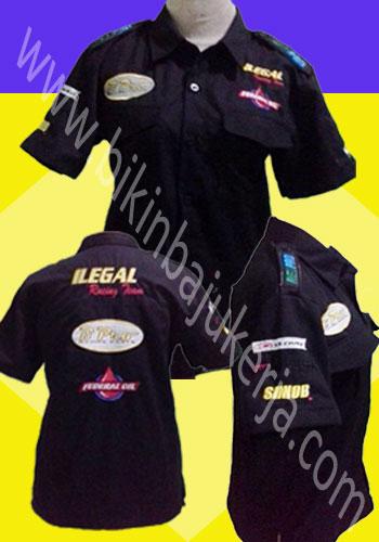 kemeja promosi, seragam kerja, pakaian dinas lapangan