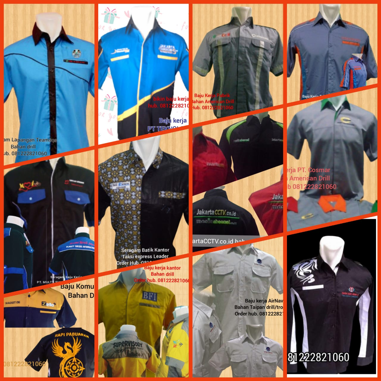 Baju Seragam Kerja Lapangan Probolinggo Jawa Timur